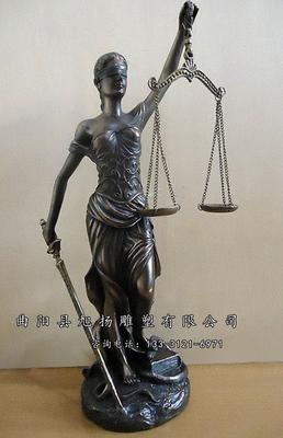 产品详情      正义法律女神雕塑  曲阳县旭扬雕刻厂定做法制廉政雕塑
